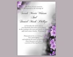 Wedding Invitations Templates Purple Diy Wedding Invitation Template Editable Word File Instant Download