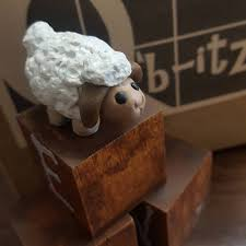 Miniature Tiny Sheep Ewe Lamb Handcrafted Mini Perfect for Q'b-itz, Fairy  Gardens and Dollhouses