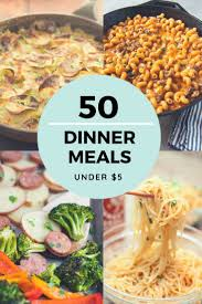 Cost Of Light And Easy Meals Cheap Dinner Recipes For 5 Or Less More Than 50 Ideas