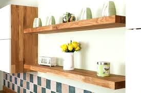 installing floating shelves solid wood in oak kitchens is easy and does not wall shelf on how to install floating shelves
