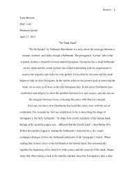 birthmark complete essay allegory nathaniel hawthorne
