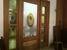 door design for drawing room door green yellow glass work enhancing elegance