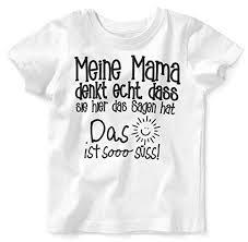 Mikalino Babykinder T Shirt Mit Spruch Für Jungen Mädchen Unisex