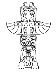 Small Picture Beautiful Totem Pole Animals Coloring Pages Pictures New