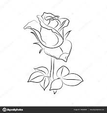 Vector Tattoo Roses With Leaves On White Background Stock Vektor