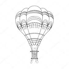 Kleurplaat Pagina Volwassenen En Kinderen Met Luchtballon