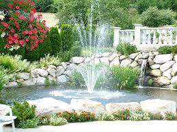 fountain water garden designs home