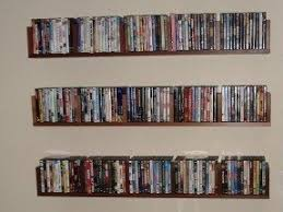 Wall mounted dvd shelves