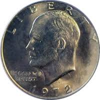 1972 Eisenhower Silver Dollar Value Chart 1972 D Eisenhower Dollar Value Cointrackers