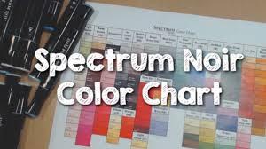Spectrum Noir Markers Color Chart