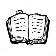 open book drawing stock vector