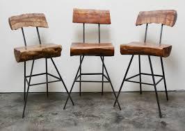 Modern Style Bar Stools Rustic Modern Iron And Log Bar Stools At 1stdibs