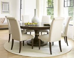 ... Dining Room Table, Attractive Brown Minimalist Wood Round Dining Table  And Chairs Inspirations: Exciting ...