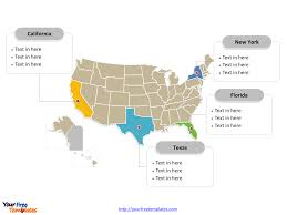 Us Map Editable In Powerpoint Free Usa Powerpoint Map Free Powerpoint Templates