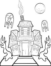 Small Picture Haunted House Drawing Ideas Coloring Coloring Pages