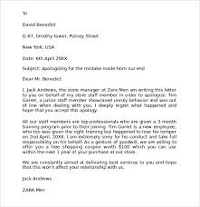 Apologize Business Letter Business Apology Letter To Customer Scrumps
