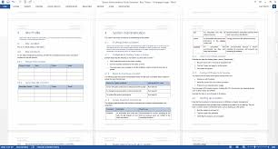 system administration guide ms word and excel template ms word template blue theme