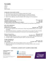 Tufts Career Services Cover Letter Nurse Aide Resume Examples