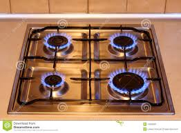 kitchen gas stove. Kitchen Gas Stove With Flames Of Fire