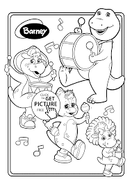 Small Picture Barney and friends musicians coloring pages for kids printable