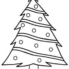 Small Picture Christmas Trees Outline Coloring Pages Color Luna