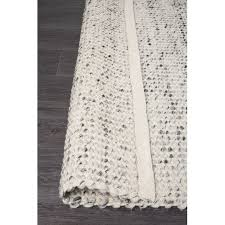 network rugs carlos felted wool rug grey natural
