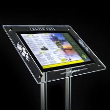 Menu Display Stands Restaurant Extraordinary Wall Mount Display Cases Stands Window Displays