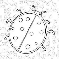 Schattig Lieveheersbeestje Kleurplaat Fotoboekpagina Overzicht