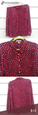 dalia collection hearts blouse  d tops and heart print