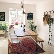 Rustic Dining Table Hairpin Legs Industrial Scandi Style Kitchen