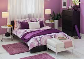 Purple Girls Bedrooms Bathroom Stunning And Trendy Purple Accent Wall Bedroom Alluring
