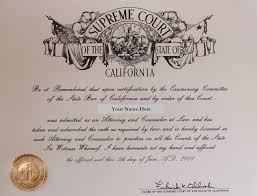 bar exam preparation visualize your bar certificate picture of a california bar admission certificate