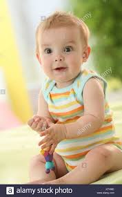 Baby Sit Play Is Surprised Stock Photo 280267638 Alamy