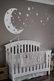Moon and stars neutral baby nursery theme idea - baby boy nursery theme -  love you