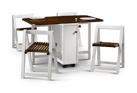 Collapsible Kitchen Table Dining Table With Storage Stools Bedroom And Living Room Image