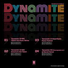 K-POP] BTS (방탄소년단) 'Dynamite' Promotion Schedule - September - Pantip