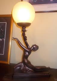 Woman Sculpture Light Pin On Vintage