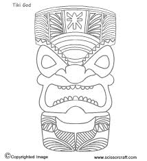 Small Picture Hawaiian Tiki Mask Coloring Pages Printable tiki masks