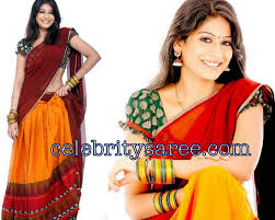 Blouse Half Sleeve Designs Images Vijaya Laxmi In Designer Half Saree Paired With Puffed