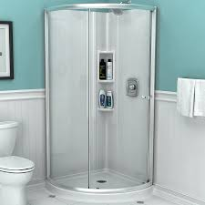 american standard axis 36 062 in to 36 062 in w framed curved silver shower door