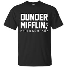 The office TV show Dunder Mifflin INC paper company logo t-shirt | eBay