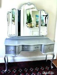 vanity set with lighted mirror makeup vanity table with lights desk setup set lighted mirror black