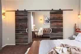 image of bedroom barn doors interior