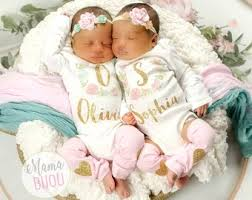 girls baby photos twin girl outfits etsy