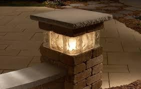 20 pillar with glass block