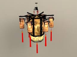 high detailed 3d model of chinese antique lantern chandelier lights available 3d file format max autodesk 3ds max 2016 texture format jpg