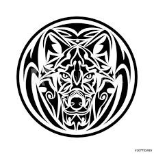 Fotografie Obraz Wolf Tribal Tattoo Posterscz