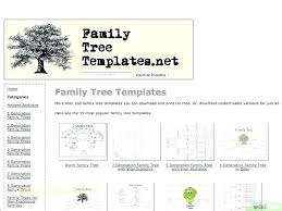 Free Family Tree Template For Chart Generations 6 Generation