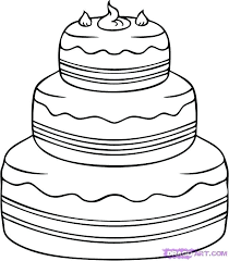 How To Draw A Birthday Cake Step By Step Trustbanksurinamecom
