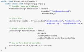 Regex Pattern Extraordinary Java Regex As Predicate Using Patternpile Method